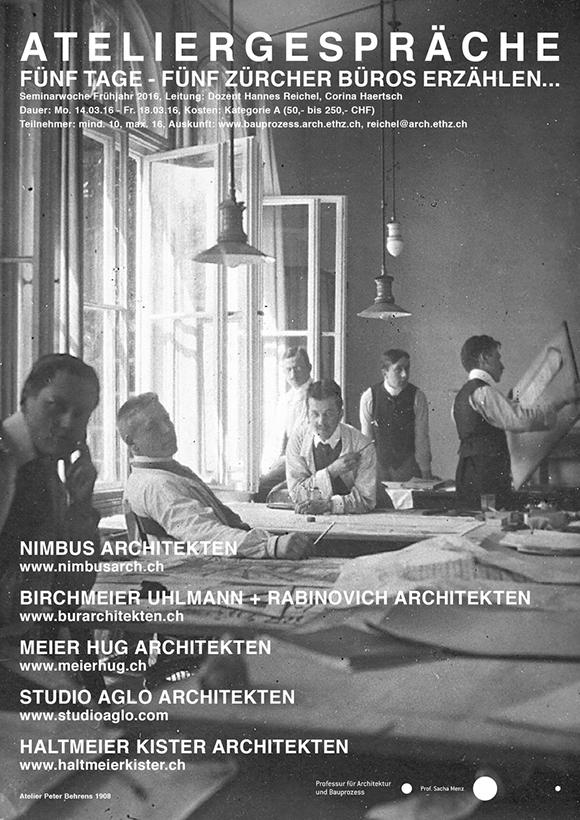 Nimbus Architekten Michael Bühler Lukas Schaffhuser Zürich ETH Seminarreise Ateliergespraeche