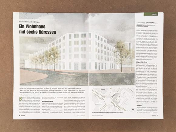 Nimbus Architekten Michael Bühler Lukas Schaffhuser Zürich Publikation Baublatt 41