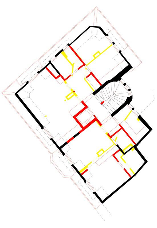 Nimbus Architekten Michael Bühler Lukas Schaffhuser Mehrfamilienhaus Zürich Obergeschoss 4