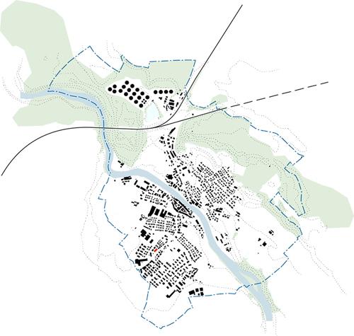 Nimbus Architekten Michael Bühler Lukas Schaffhuser Raiffeisen Mellingen Schwarzplan