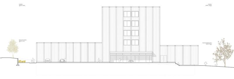 Nimbus Architekten Michael Bühler Lukas Schaffhuser Schulhaus Freilager Ansicht Süd Ost