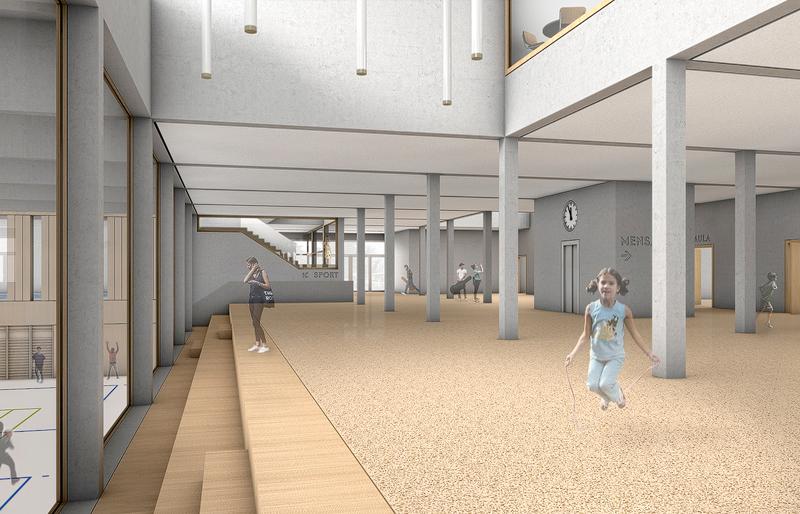 Nimbus Architekten Michael Bühler Lukas Schaffhuser Schulhaus Freilager Halle