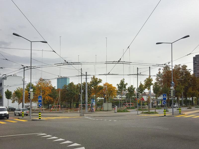 Nimbus Architekten Michael Bühler Lukas Schaffhuser Wohnsiedlung Herdernstrasse Baugespann