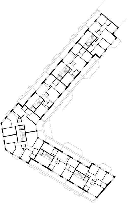 Nimbus Architekten Michael Bühler Lukas Schaffhuser Wohnsiedlung Herdernstrasse Dachgeschoss