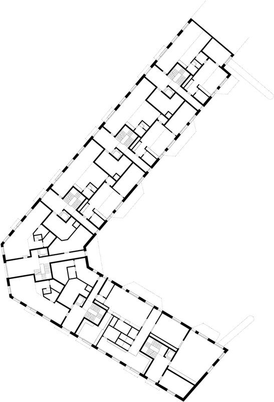 Nimbus Architekten Michael Bühler Lukas Schaffhuser Wohnsiedlung Herdernstrasse Erdgeschoss