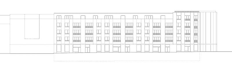 Nimbus Architekten Michael Bühler Lukas Schaffhuser Wohnsiedlung Herdernstrasse Fassade Herdernstrasse