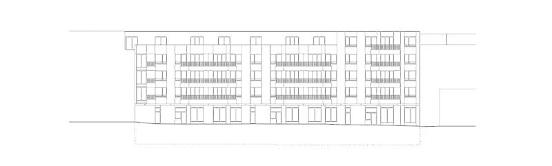 Nimbus Architekten Michael Bühler Lukas Schaffhuser Wohnsiedlung Herdernstrasse Fassade Hof Herdernstrasse