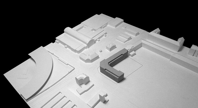 Nimbus Architekten Michael Bühler Lukas Schaffhuser Wohnsiedlung Herdernstrasse Gipsmodell