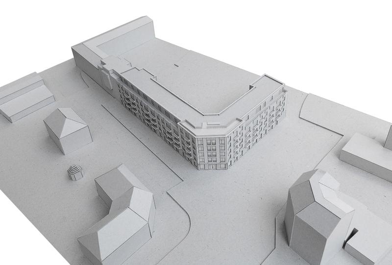 Nimbus Architekten Michael Bühler Lukas Schaffhuser Wohnsiedlung Herdernstrasse Modell 1