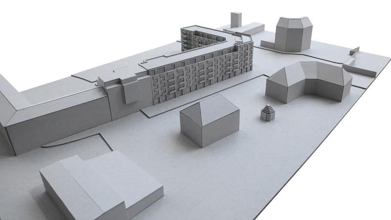 Nimbus Architekten Michael Bühler Lukas Schaffhuser Wohnsiedlung Herdernstrasse Modell 2