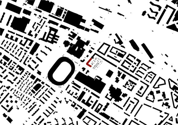 Nimbus Architekten Michael Bühler Lukas Schaffhuser Wohnsiedlung Herdernstrasse Schwarzplan