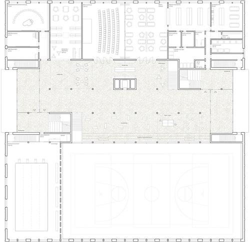 Nimbus Architekten Michael Bühler Lukas Schaffhuser Schulhaus Freilager Erdgeschoss
