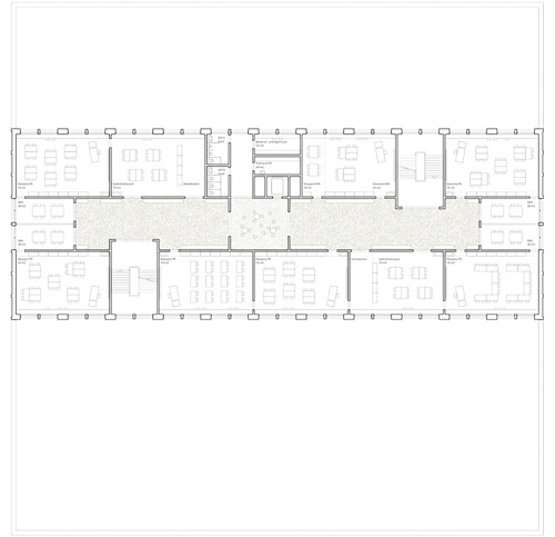 Nimbus Architekten Michael Bühler Lukas Schaffhuser Schulhaus Freilager Regelgeschoss