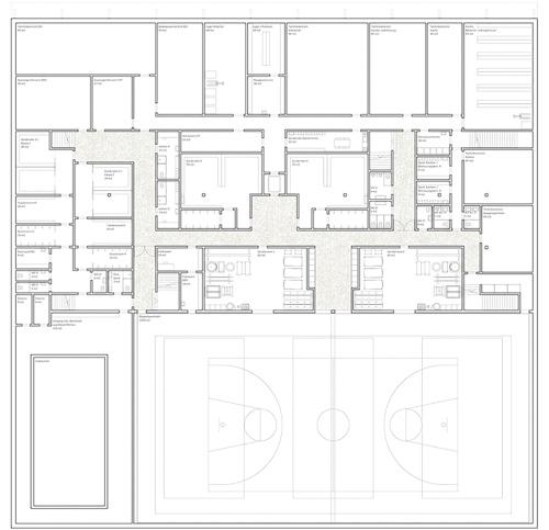 Nimbus Architekten Michael Bühler Lukas Schaffhuser Schulhaus Freilager Untergeschoss