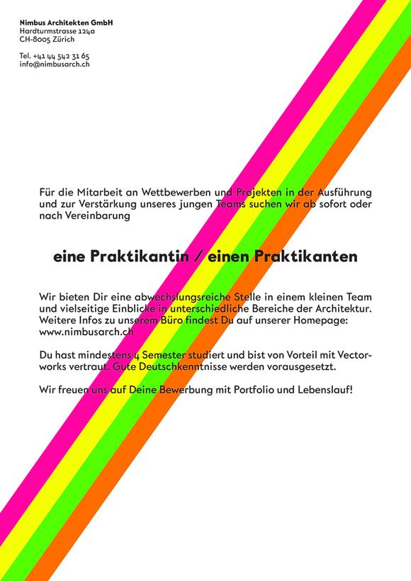 Nimbus Architekten Michael Bühler Lukas Schaffhuser Praktikum