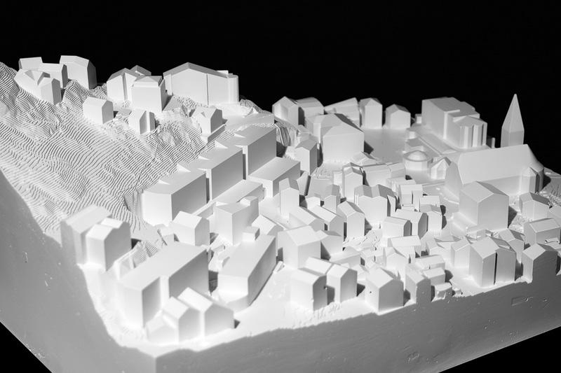 Nimbus Architekten Michael Bühler Lukas Schaffhuser Schulanlage Walka mit Auditorium Zermatt Modell 1