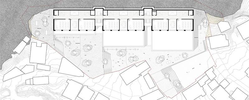 Nimbus Architekten Michael Bühler Lukas Schaffhuser Schulanlage Walka mit Auditorium Zermatt Obergeschoss 2