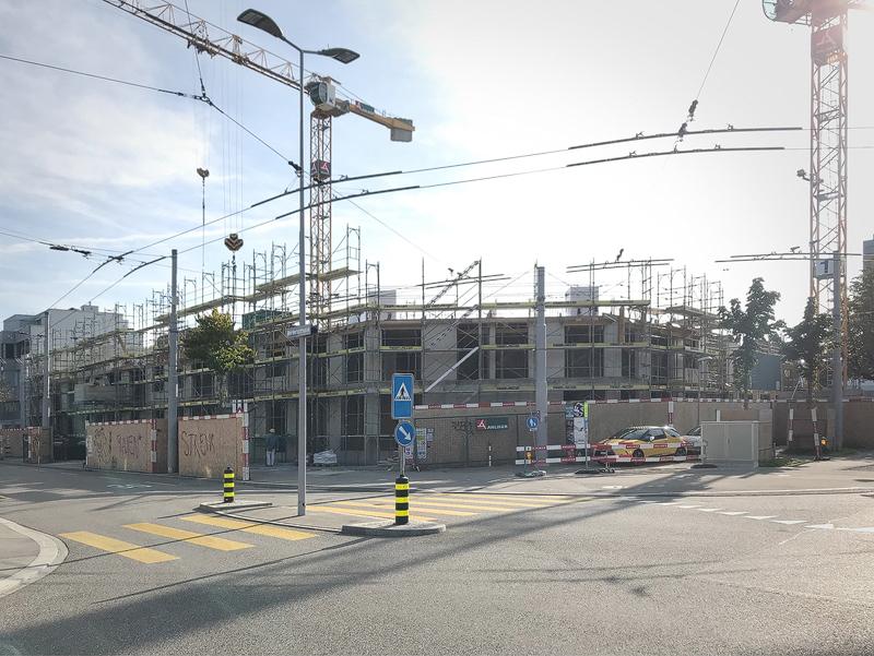 Nimbus Architekten Michael Bühler Lukas Schaffhuser Wohnsiedlung Herdernstrasse Baufortschritt Kreuzung
