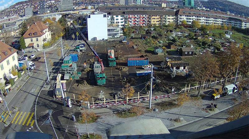 Nimbus Architekten Michael Bühler Lukas Schaffhuser Wohnsiedlung Herdernstrasse Baustelle November 2018