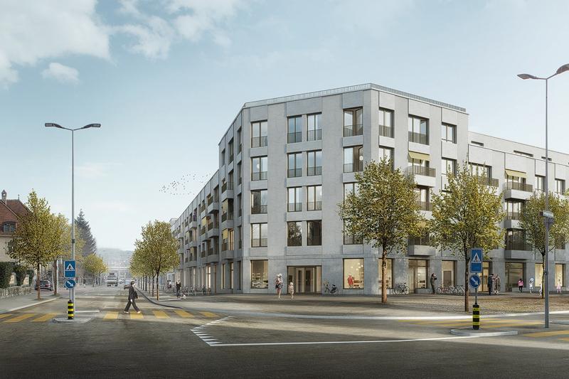 Nimbus Architekten Michael Bühler Lukas Schaffhuser Wohnsiedlung Herdernstrasse Perspektive Kreuzung