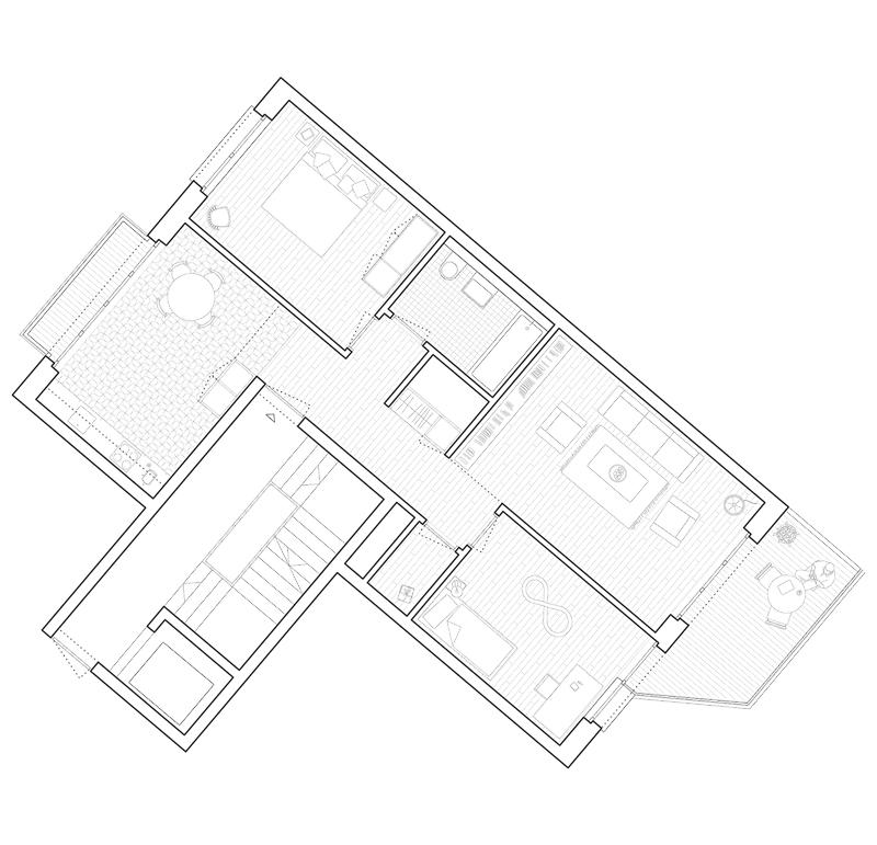 Nimbus Architekten Michael Bühler Lukas Schaffhuser Wohnsiedlung Herdernstrasse 3.5 Zimmer Wohnung