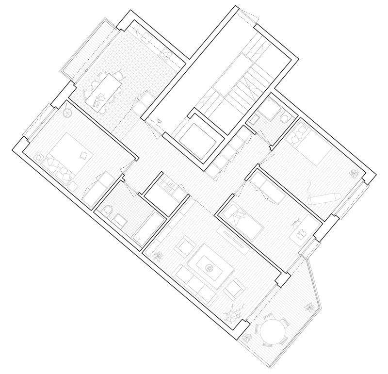 Nimbus Architekten Michael Bühler Lukas Schaffhuser Wohnsiedlung Herdernstrasse 4.5 Zimmer Wohnung