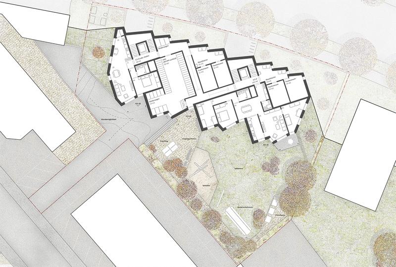 Nimbus Architekten Michael Bühler Lukas Schaffhuser Ersatzneubau Rotbuchstrasse Zuerich Erdgeschoss
