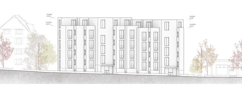 Nimbus Architekten Ersatzneubau Rotbuchstrasse Zuerich Fassade Nord