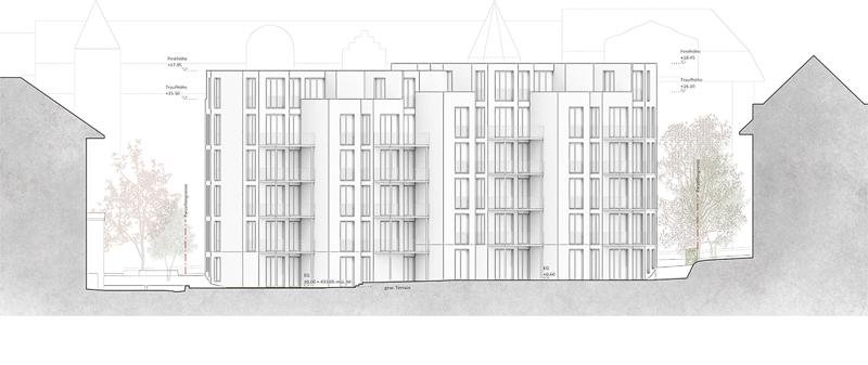 Nimbus Architekten Michael Bühler Lukas Schaffhuser Ersatzneubau Rotbuchstrasse Zuerich Fassade Süd