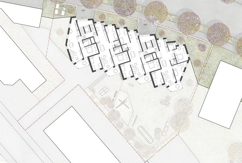 Nimbus Architekten Michael Bühler Lukas Schaffhuser Ersatzneubau Rotbuchstrasse Zuerich Obergeschoss 1
