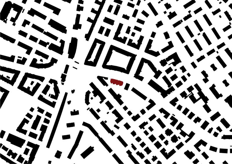 Nimbus Architekten Michael Bühler Lukas Schaffhuser Ersatzneubau Rotbuchstrasse Zuerich Schwarzplan