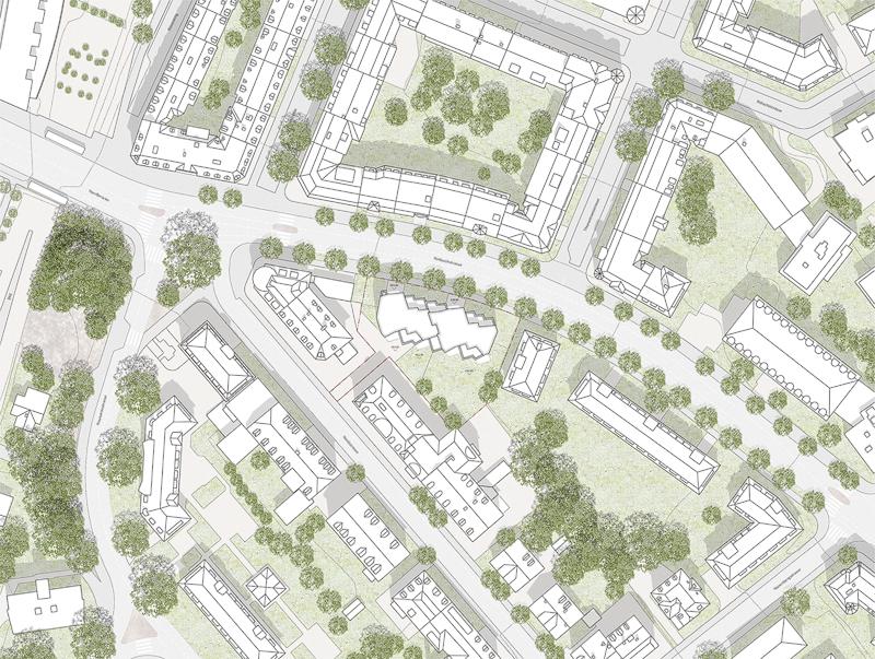 Nimbus Architekten Michael Bühler Lukas Schaffhuser Ersatzneubau Rotbuchstrasse Zuerich Situationsplan