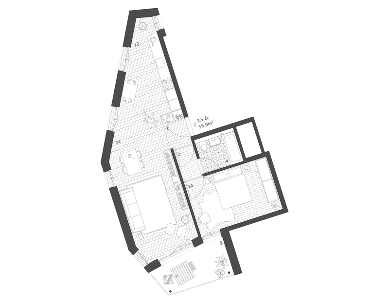 Nimbus Architekten Michael Bühler Lukas Schaffhuser Ersatzneubau Rotbuchstrasse Zuerich Wohnung 2-5