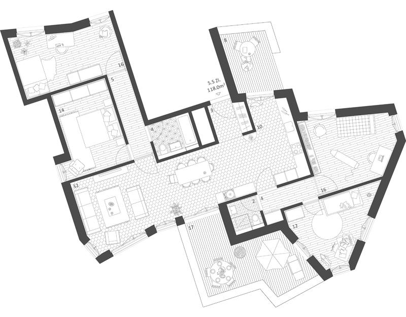Nimbus Architekten Michael Bühler Lukas Schaffhuser Ersatzneubau Rotbuchstrasse Zuerich Wohnung 5-5