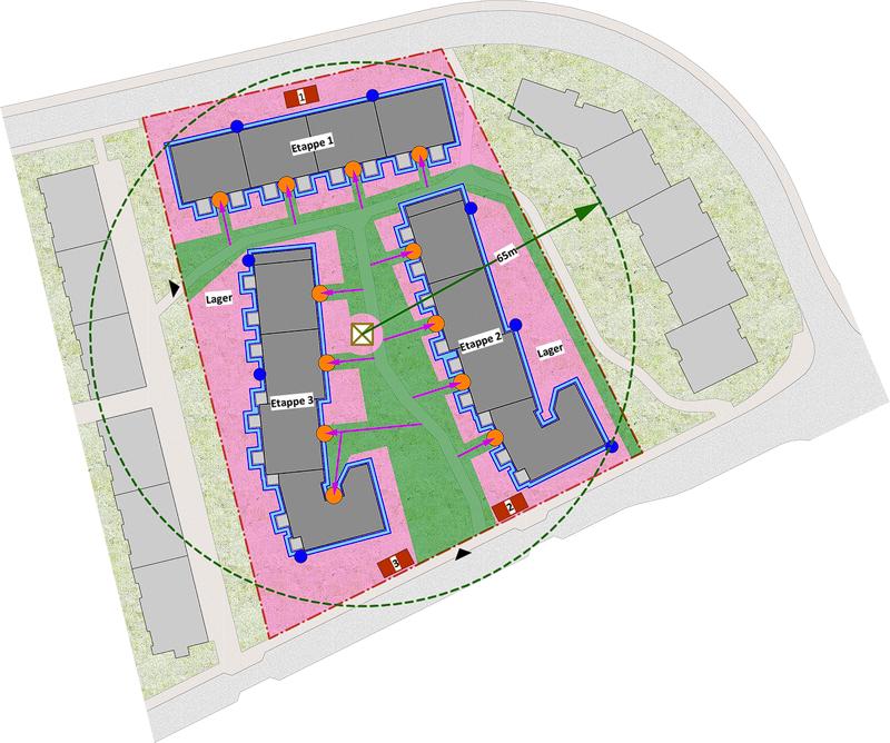 Nimbus Architekten Michael Bühler Lukas Schaffhuser Sanierung Gebaeudehuelle Ruetihof 1 Zuerich Baustelleninstallation
