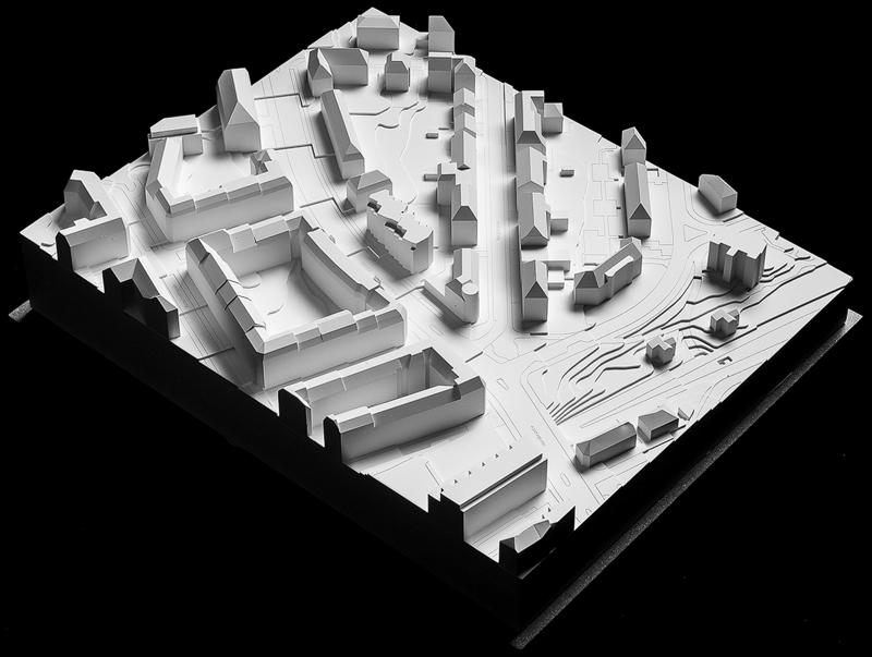 Nimbus Architekten Michael Bühler Lukas Schaffhuser Ersatzneubau Rotbuchstrasse Zuerich Gipsmodell Strasse
