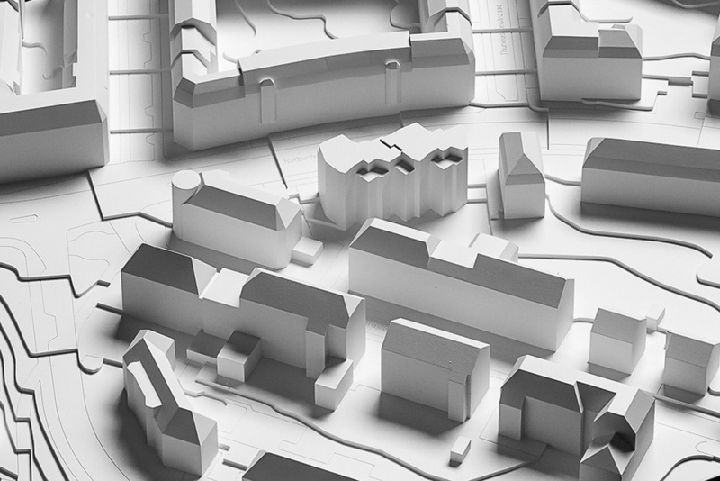 Nimbus Architekten Michael Bühler Lukas Schaffhuser Ersatzneubau Rotbuchstrasse Zuerich Gipsmodell