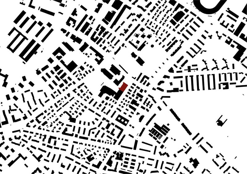 Nimbus Architekten Michael Bühler Lukas Schaffhuser Schulraumprovisorium Albisriederstrasse Zürich Schwarzplan