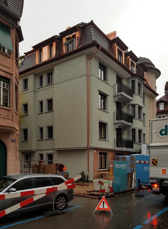 Nimbus Architekten Michael Bühler Lukas Schaffhuser Zürich Baufortschritt Mehrfamilienhaus Säntisstrasse