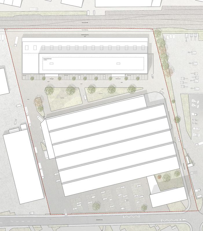 Nimbus Architekten Michael Bühler Lukas Schaffhuser Gewerbegebaeude Nord Regensdorf Situationsplan