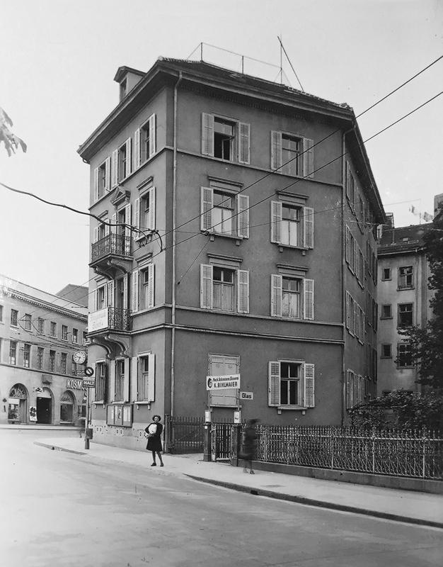 Nimbus Architekten Michael Bühler Lukas Schaffhuser Mehrfamilienhaus Badenerstrasse Ansicht Hof historisch