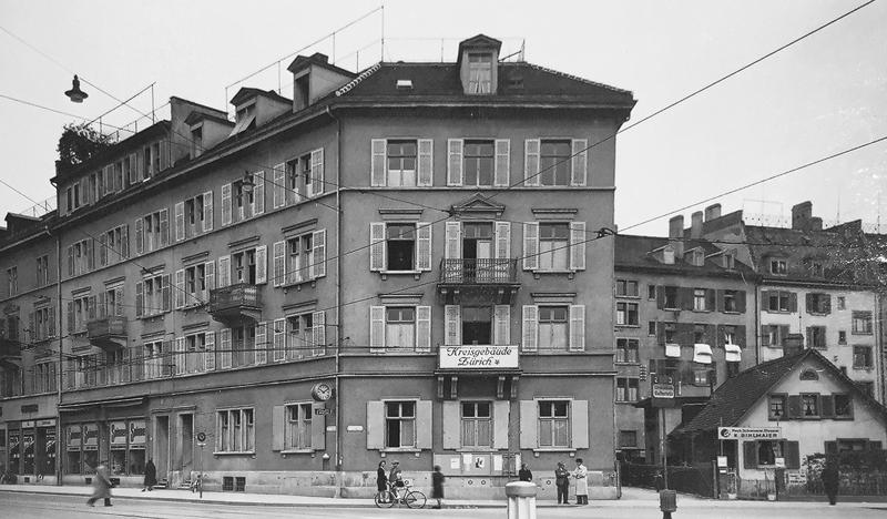 Nimbus Architekten Michael Bühler Lukas Schaffhuser Mehrfamilienhaus Badenerstrasse Ansicht Strasse historisch