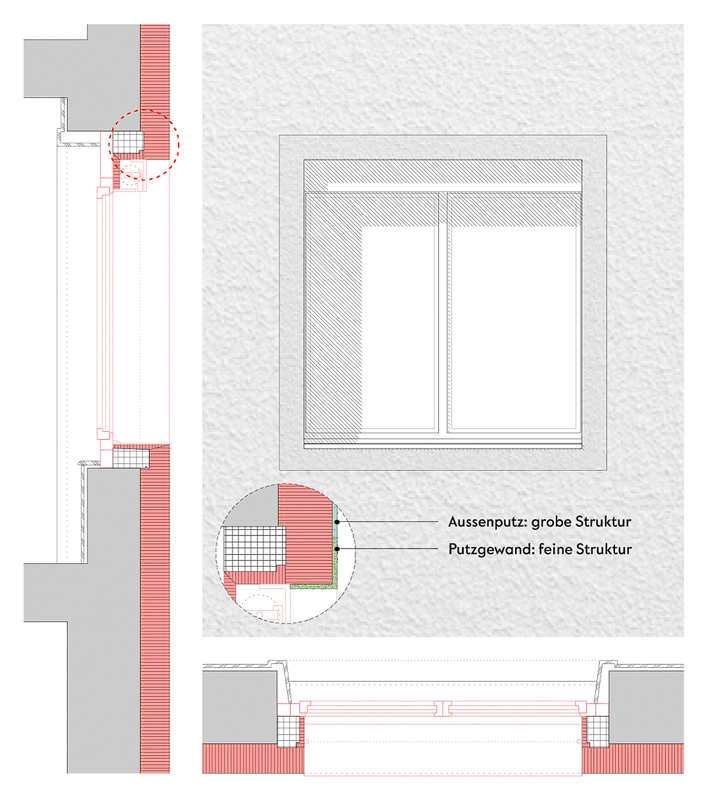 Nimbus Architekten Michael Bühler Lukas Schaffhuser Mehrfamilienhaus Badenerstrasse Detail Fenster Hof