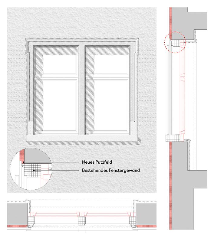 Nimbus Architekten Michael Bühler Lukas Schaffhuser Mehrfamilienhaus Badenerstrasse Detail Fenster Strasse