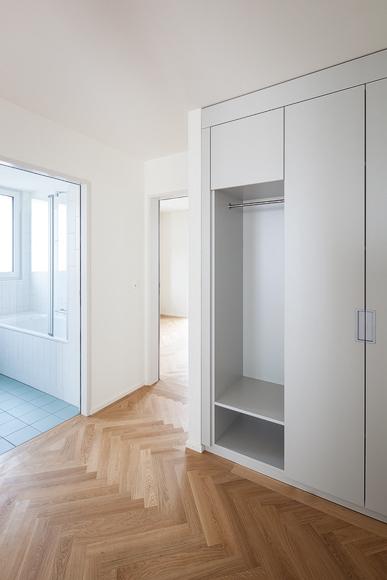 Nimbus Architekten Michael Bühler Lukas Schaffhuser Bezug Mehrfamilienhaus Säntisstrasse