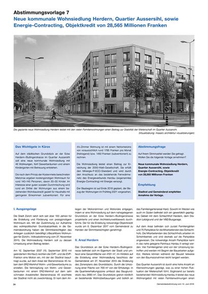 Nimbus Architekten Michael Bühler Lukas Schaffhuser Zuerich Abstimmungszeitung Neue kommunale Wohnsiedlung Herdern
