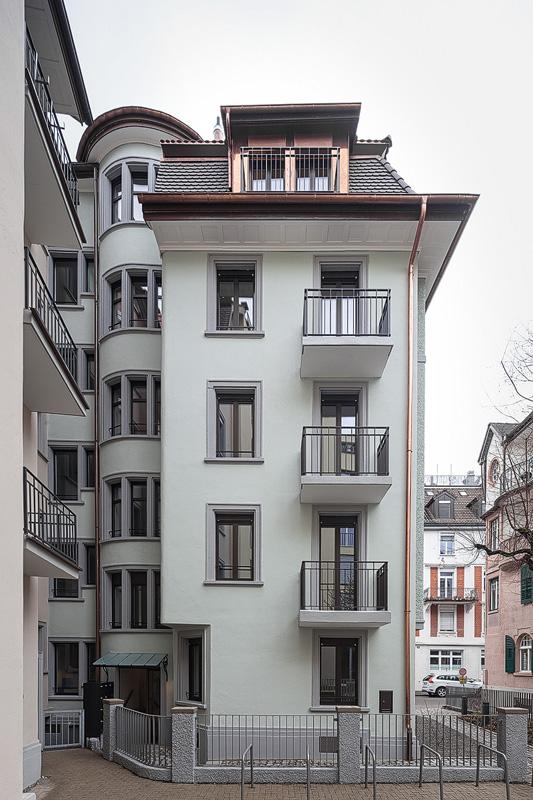 Nimbus Architekten Michael Bühler Lukas Schaffhuser Mehrfamilienhaus Zuerich Ansicht Nord Ost