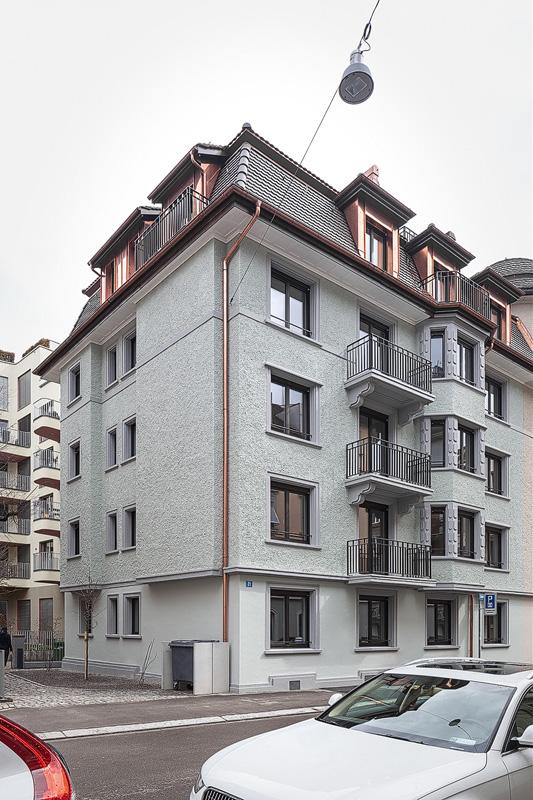 Nimbus Architekten Michael Bühler Lukas Schaffhuser Mehrfamilienhaus Zuerich Ansicht West