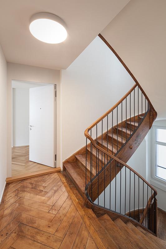Nimbus Architekten Michael Bühler Lukas Schaffhuser Mehrfamilienhaus Zuerich Treppenhaus