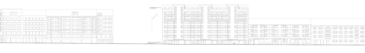 Nimbus Architekten Michael Bühler Lukas Schaffhuser Wohnsiedlung Hardau I Zuerich Ansicht Hardstrasse